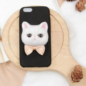 Custom cat phone case-Black