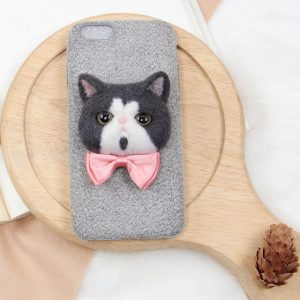 Custom cat phone case-Gray