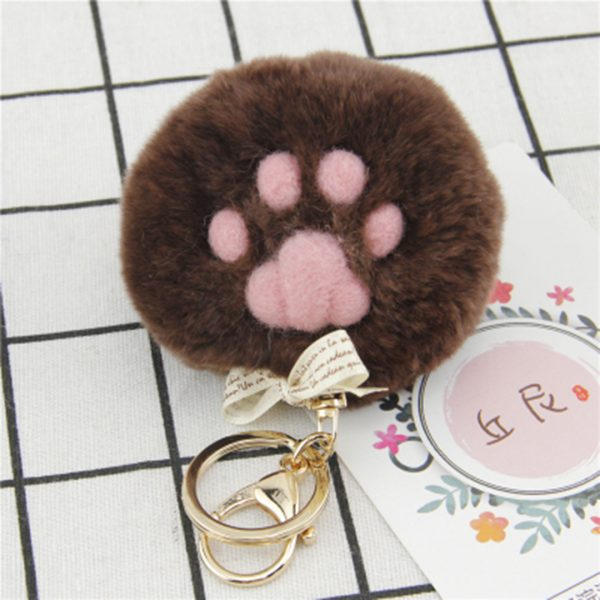 felted dog paw-Brown