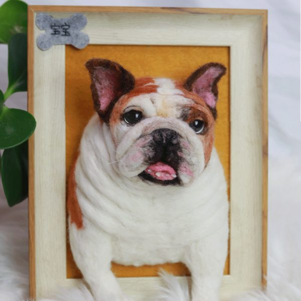 custom dog canvas portrait-bao