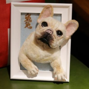 personalized dog canvas with feet