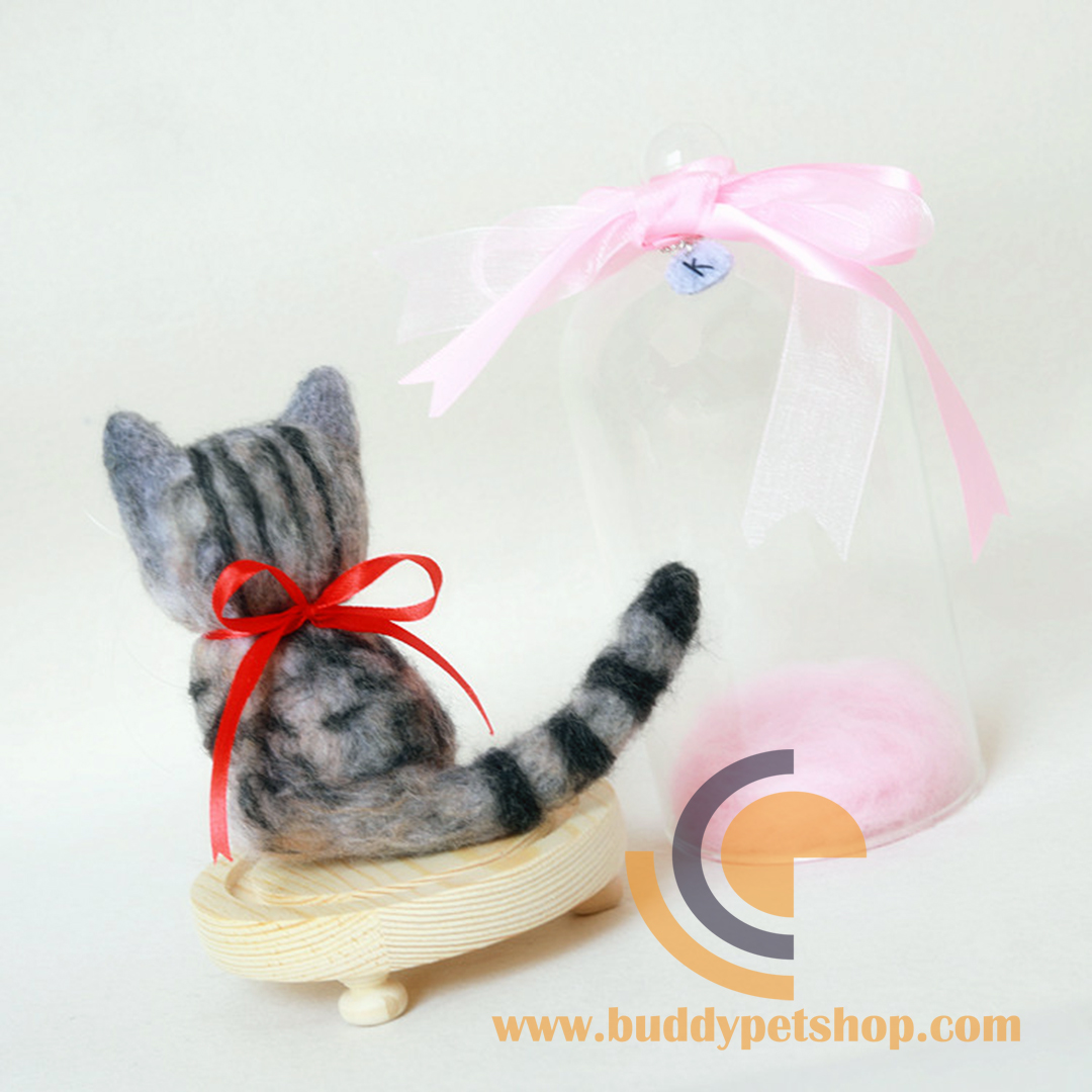 Custom Needle Felted Cat1