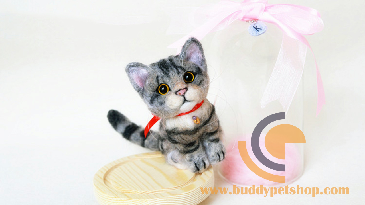 Custom Needle Felted Cat3