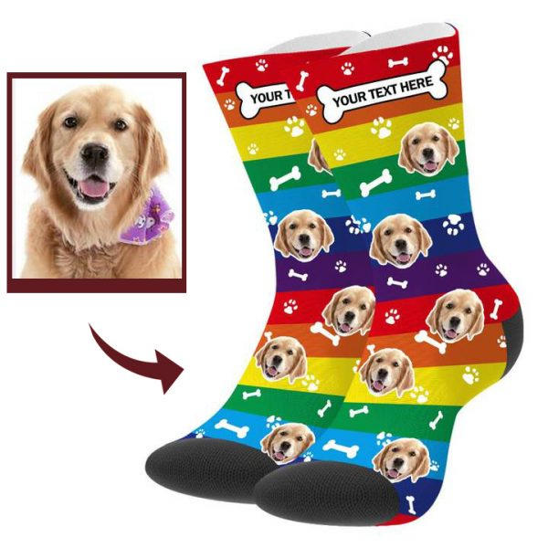 Custom Pup Picture Socks With Your Text – Buddy Pet