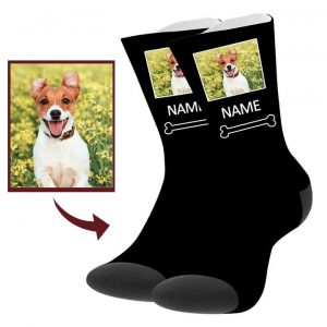 Custom Dog Picture Socks with Text – Buddy Pet