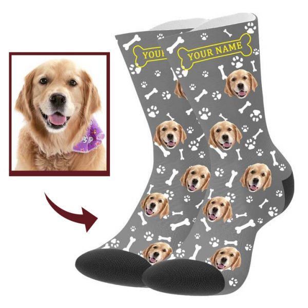 Custom Dog Picture Socks with Name – Buddy Pet